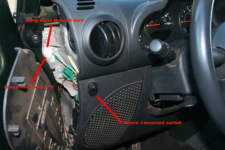 running power through passenger side firewall - ausjeepoffroad.com jeep  news australia and new zealand  aus jeep offroad