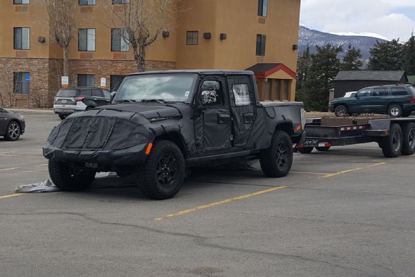 Spy Photos Jeep JT Wrangler Ute Testing Continues